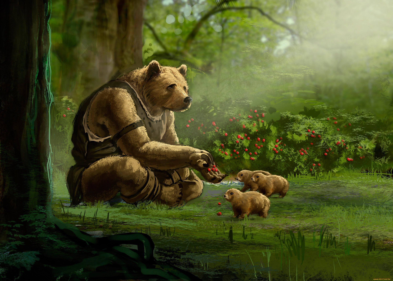 красивые рисунки медведей музыкальных композиций